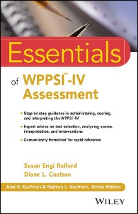 Cover Essentials of WPPSI-IV Assessment