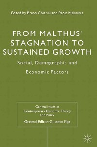 Cover From Malthus' Stagnation to Sustained Growth