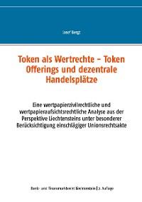 Cover Token als Wertrechte und Token Offerings und dezentrale Handelsplätze