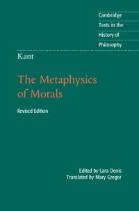 Cover Kant: The Metaphysics of Morals