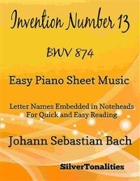 Cover Invention Number 13 BWV 784 Easy Piano Sheet Music