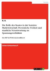 Cover Die Rolle des Staates in der Sozialen Marktwirtschaft. Persönliche Freiheit und staatliche Verantwortung im Spannungsverhältnis