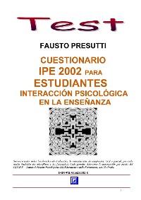 Cover Cuestionario IPE 2002 para Estudiantes