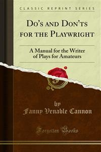 Cover Do's and Don'ts for the Playwright