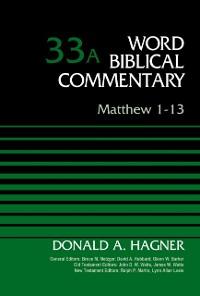 Cover Matthew 1-13, Volume 33A