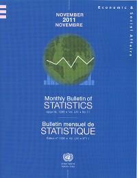 Cover Monthly Bulletin of Statistics, November 2011