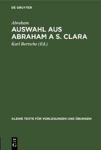 Cover Auswahl aus Abraham a S. Clara