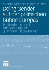Cover Doing Gender auf der politischen Bühne Europas