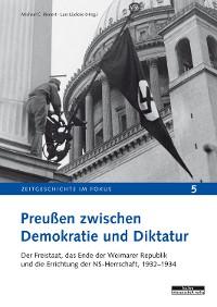 Cover Preußen zwischen Demokratie und Diktatur