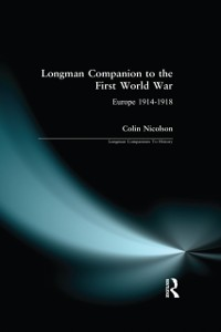 Cover Longman Companion to the First World War