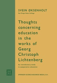 Cover Thoughts Concerning Education in the Works of Georg Christoph Lichtenberg