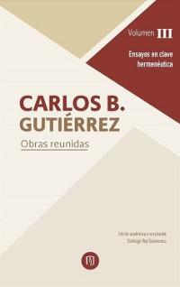 Cover Obras reunidas Carlos B Gutiérrez