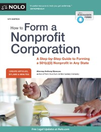 Cover How to Form a Nonprofit Corporation (National Edition)