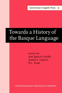 Cover Towards a History of the Basque Language