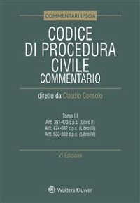 Cover Tomo III - Codice di procedura civile Commentato