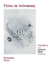 Cover Vistas in Astronomy