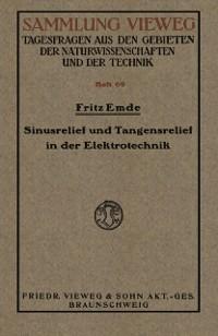 Cover Sinusrelief und Tangensrelief in der Elektrotechnik