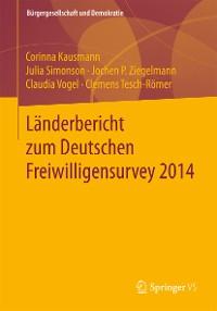 Cover Länderbericht zum Deutschen Freiwilligensurvey 2014