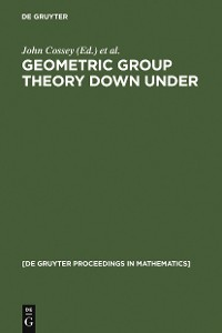 Cover Geometric Group Theory Down Under