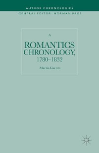 Cover A Romantics Chronology, 1780-1832