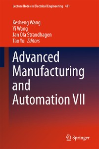 Cover Advanced Manufacturing and Automation VII