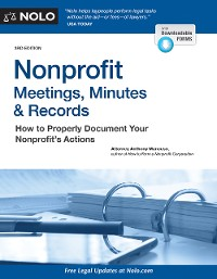 Cover Nonprofit Meetings, Minutes & Records