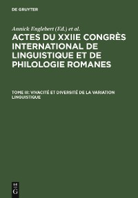Cover Vivacité et diversité de la variation linguistique
