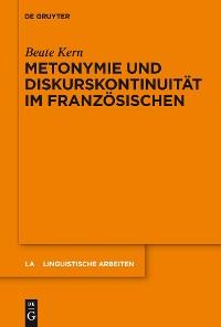 Cover Metonymie und Diskurskontinuität im Französischen