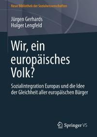 Cover Wir, ein europäisches Volk?
