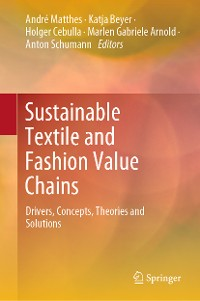 Cover Sustainable Textile and Fashion Value Chains