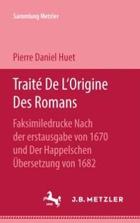 Cover Traite De L'Origine des Romans