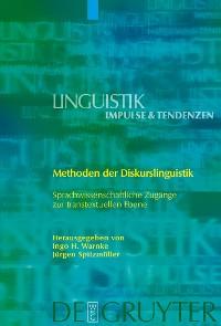 Cover Methoden der Diskurslinguistik