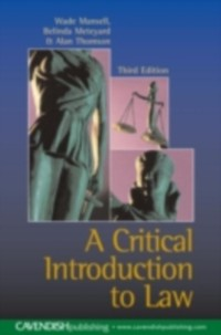 Cover Critical Introduction to Law
