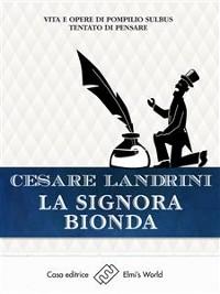 Cover La signora bionda