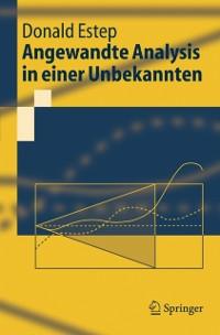 Cover Angewandte Analysis in einer Unbekannten