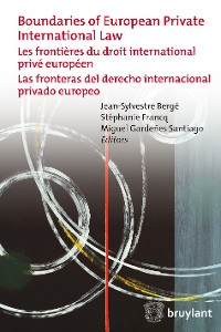 Cover Boundaries of European Private International Law