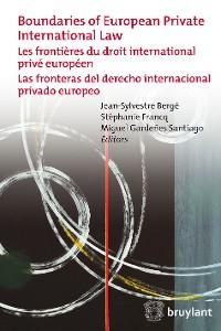 Cover Boundaries of European Private International Law