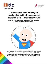 Cover Raccolta dei disegni partecipanti al concorso Super B e il coronavirus