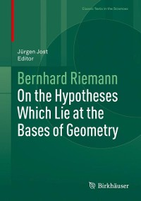 Cover On the Hypotheses Which Lie at the Bases of Geometry