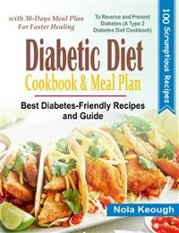 Cover Diabetic Diet Cookbook and Meal Plan