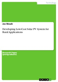 Cover Developing Low-Cost Solar PV System for Rural Applications