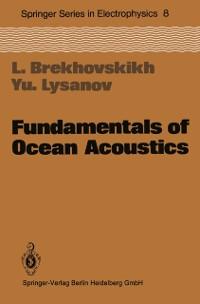 Cover Fundamentals of Ocean Acoustics