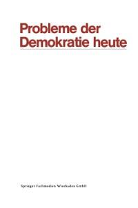 Cover Probleme der Demokratie heute