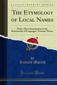 Cover The Etymology of Local Names