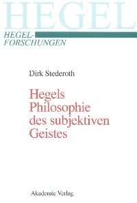 Cover Hegels Philosophie des subjektiven Geistes