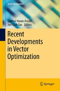 Cover Recent Developments in Vector Optimization