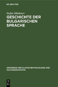 Cover Geschichte der bulgarischen Sprache
