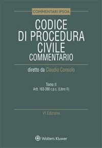 Cover Tomo II - Codice di Procedura Civile Commentato