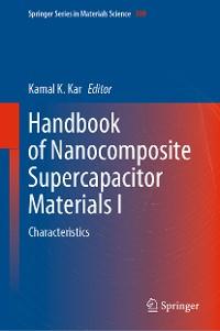 Cover Handbook of Nanocomposite Supercapacitor Materials I