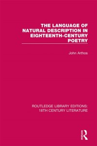 Cover Language of Natural Description in Eighteenth-Century Poetry